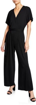 Nic+Zoe Plus Size Ease V-Neck Short-Sleeve Wide-Leg Jumpsuit