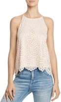 Aqua Scallop Lace Tank - 100% Exclusive