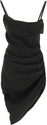 Jacquemus LA ROBE SAUDADE MINI DRESS 34 Black Wool
