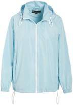 Big Chill Women's Windbreakers and Shell Jackets Sky - Sky Blue Pack-in-Pocket Windbreaker - Plus