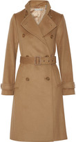 Vince Wool And Cashmere-blend Trench Coat - Camel
