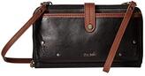 The Sak Iris Large Smartphone Crossbody (Black Onyx) Cross Body Handbags