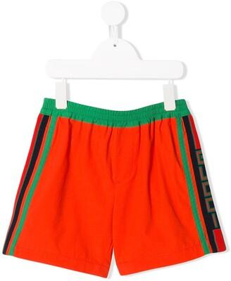 Gucci Kids side stripe bermuda shorts