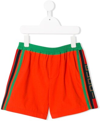 Gucci Kids side Gucci stripe bermuda shorts