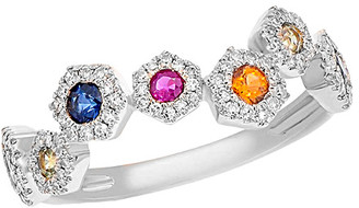 Diana M Fine Jewelry 14K 0.71 Ct. Tw. Diamond & Sapphire Ring