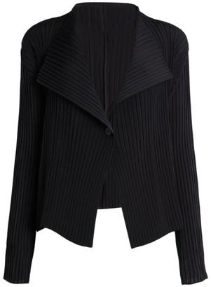 Issey Miyake Zigzag Pleats One-Button Jacket