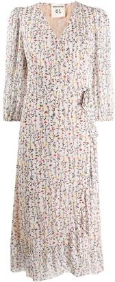 Semi-Couture Floral-Print Wrap Dress