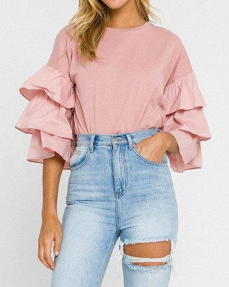 Express English Factory Tiered Ruffle Tee