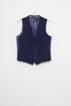 French Connection Ink Flannel Suit Waistcoat