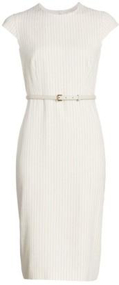 Max Mara Leandro Pinstripe Linen & Silk Dress