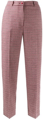 Blumarine Checked Cropped Trousers