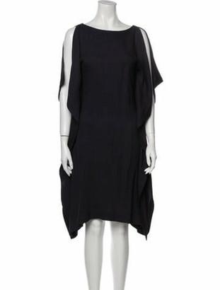Vionnet Bateau Neckline Knee-Length Dress w/ Tags Blue