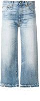 R 13 wide leg cropped jeans