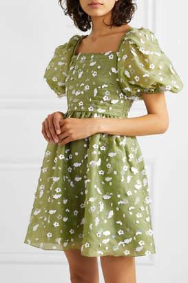 Stine Goya Net Sustain Monika Sequin-embellished Silk-chiffon Mini Dress - Green