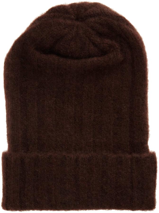 The Elder Statesman Ribbed Knit Cap