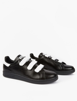Adidas By Raf Simons Black Stan Smith Comfort Sneakers