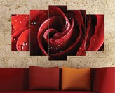 5 Panel Painting on Forex - Wall Decorations for Living Room - Rose by CharmingHome