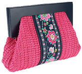 Vera Bradley As Is Straw Cutch with Magnetic Closure