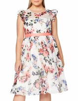 Thumbnail for your product : Gina Bacconi Women's Brinda Chiffon Dress with Frill Sleeves Cocktail