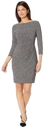 Lauren Ralph Lauren Victorina Traveler Twill Dress (Grey/Black) Women's Dress