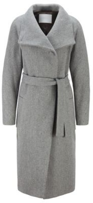 HUGO BOSS Regular-fit wool-blend coat with cashmere