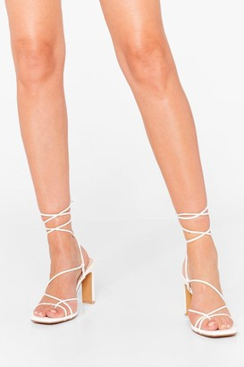 Nasty Gal Womens The Thrill of the Lace-Up Heels - White - 5, White
