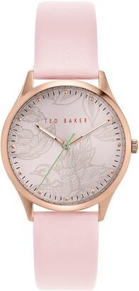 Ted Baker Women's Belgravia Leather Strap Watch, 36mm
