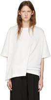 Y's White Draped T-Shirt