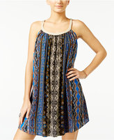 American Rag Braided-Trim Printed Trapeze Dress, Only at Macy's