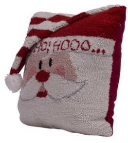 """Glitzhome 13.98"""" L Hooked 3D Santa Pillow"""