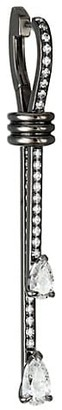 Repossi Blast 18K Black Gold & Diamond Pave Single Linear Earring