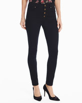 White House Black Market High-Rise Black Skinny Ankle Jeans