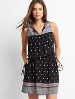 Gap Mix-print tassel dress