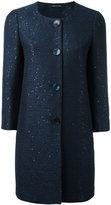 Tagliatore round neck coat - women - Cotton/Polyester/Cupro/Polyacrylic - 42