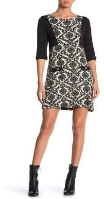 Papillon Elbow Sleeve Printed Sweater Dress