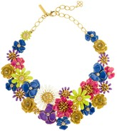 Oscar de la Renta Large Painted Floral Necklace