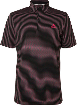 adidas Ultimate365 Space-Dyed Striped Stretch-Jersey Golf Polo Shirt