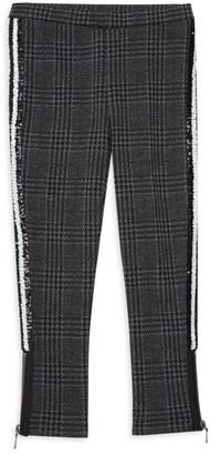 Design History Little Girl's Patterned Embellished Zip Leggings