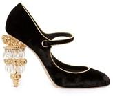 Dolce & Gabbana Chandelier-heel velvet pumps