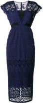 Three floor Dusck cap sleeve dress