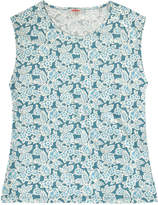Cath Kidston Woodblock Floral Boat Neck Top