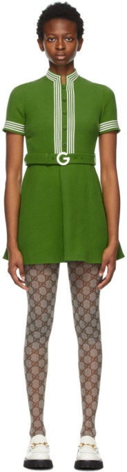 Gucci Green Wool Crepe Dress