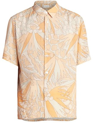Saint Laurent Retro Floral Short-Sleeve Shirt