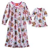 """Nickelodeon Girl's Paw Patrol Nightgown with Matching 18"""" Doll Gown"""