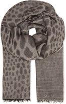Max Mara Crocodile print wool scarf