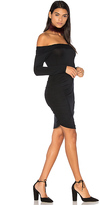 Krisa Ruched Off Shoulder Mini Dress in Black. - size XS (also in )