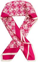 Furla Metropolis Pink Silk Twill Scarf