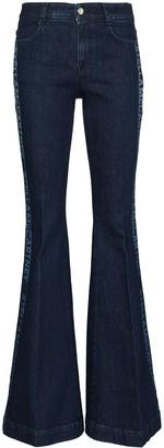 Stella McCartney Logo-Stripe Flared Jeans