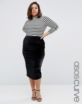 Asos Velvet Midi Pencil Skirt
