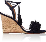 Aquazzura Women's Wild Thing Wedge Sandals-Navy